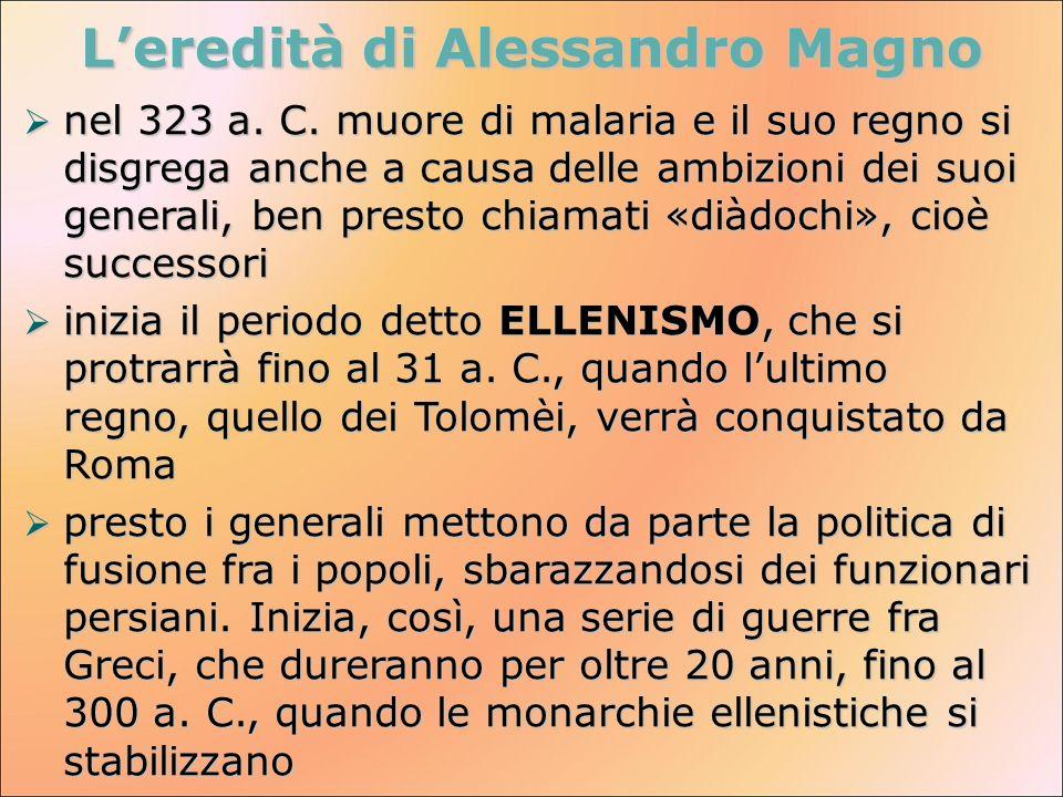 L'eredità di Alessandro Magno