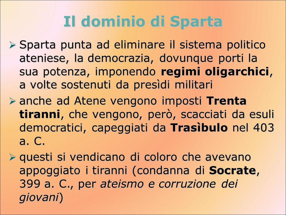 Il dominio di Sparta