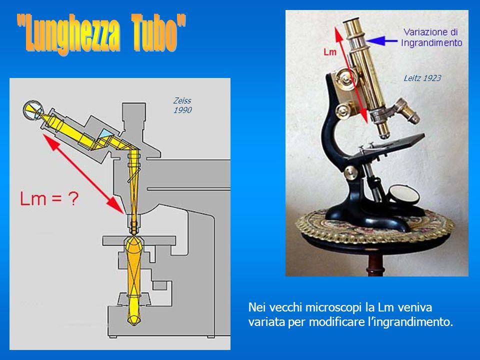 Lunghezza Tubo Leitz 1923.Zeiss 1990.