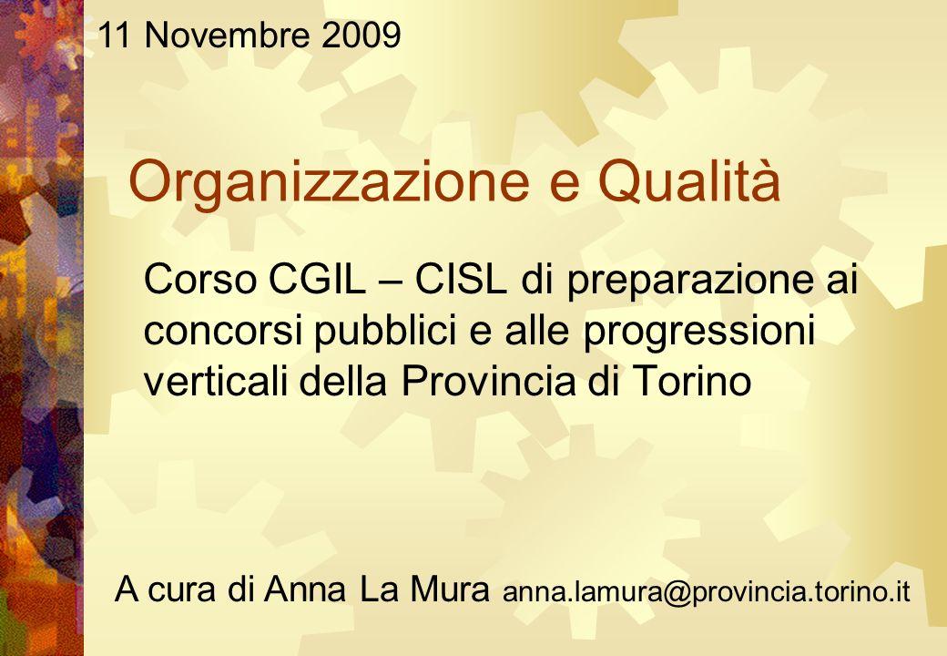 Organizzazione e Qualità