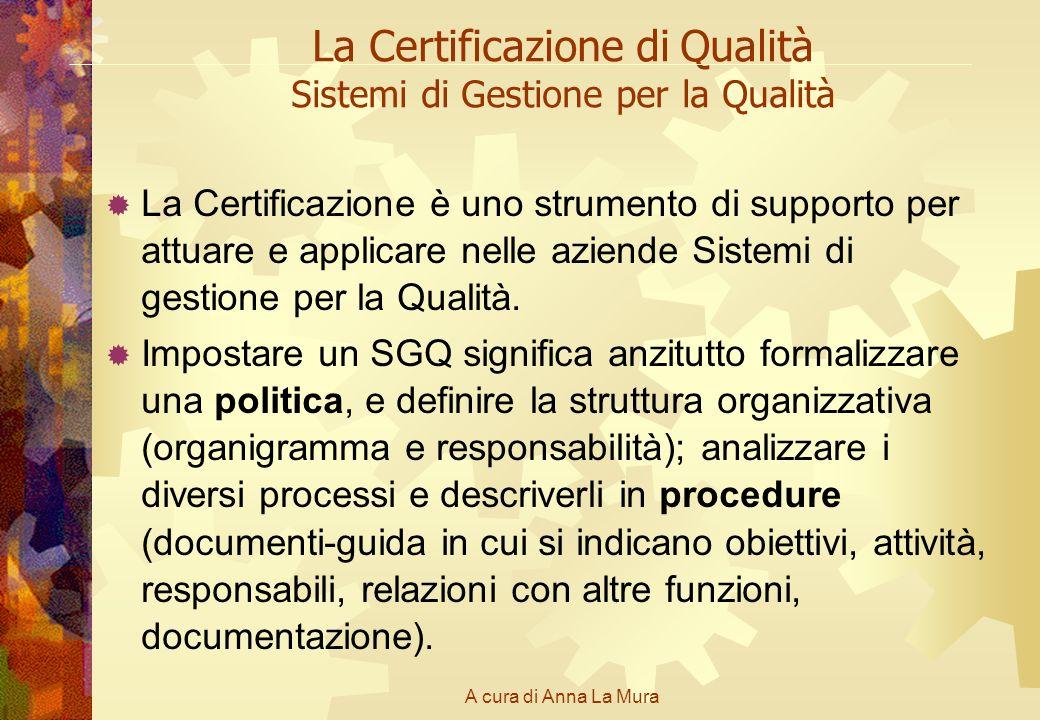 La Certificazione di Qualità Sistemi di Gestione per la Qualità