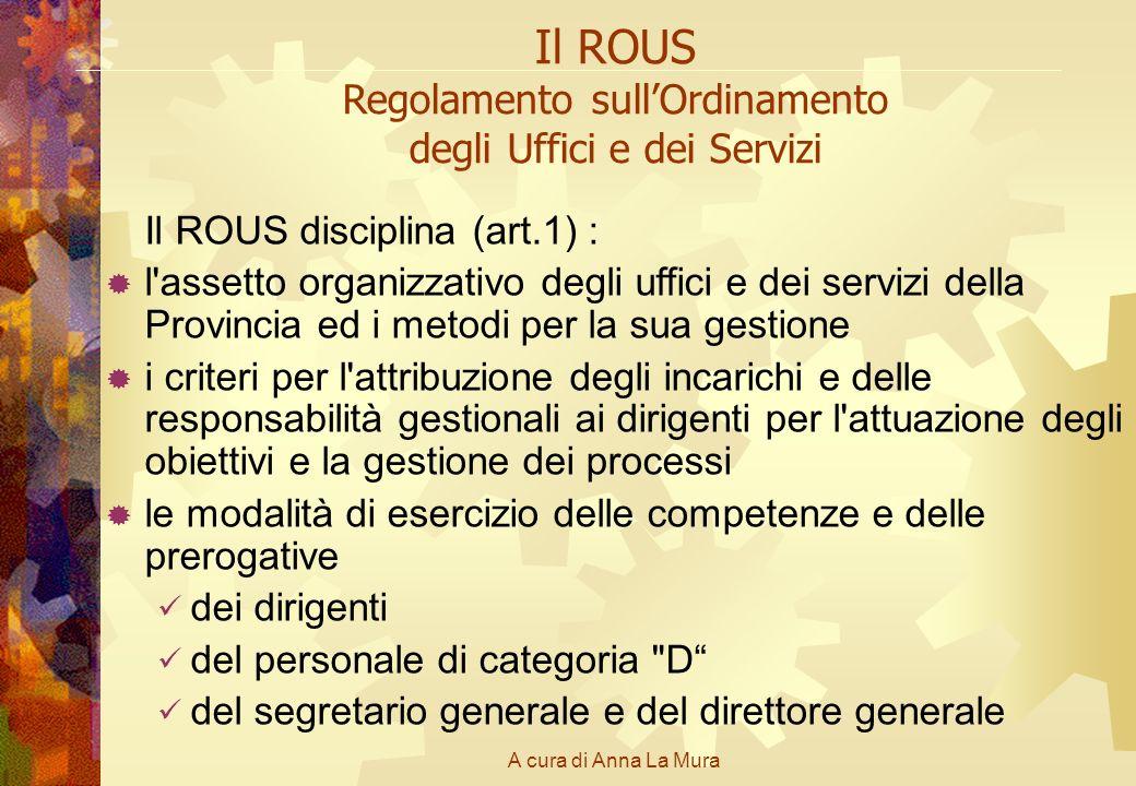 Il ROUS Regolamento sull'Ordinamento degli Uffici e dei Servizi