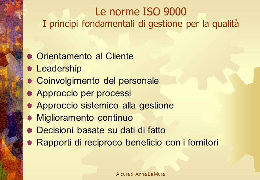 Le norme ISO 9000 I principi fondamentali di gestione per la qualità