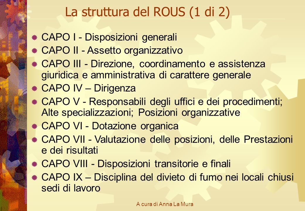 La struttura del ROUS (1 di 2)