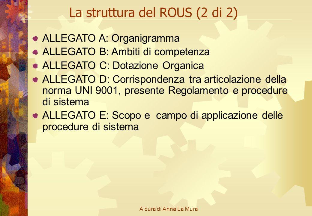 La struttura del ROUS (2 di 2)