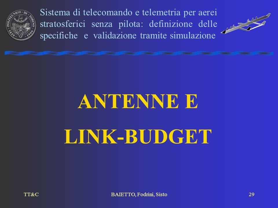 Sistema di telecomando e telemetria per aerei stratosferici senza pilota: definizione delle specifiche e validazione tramite simulazione