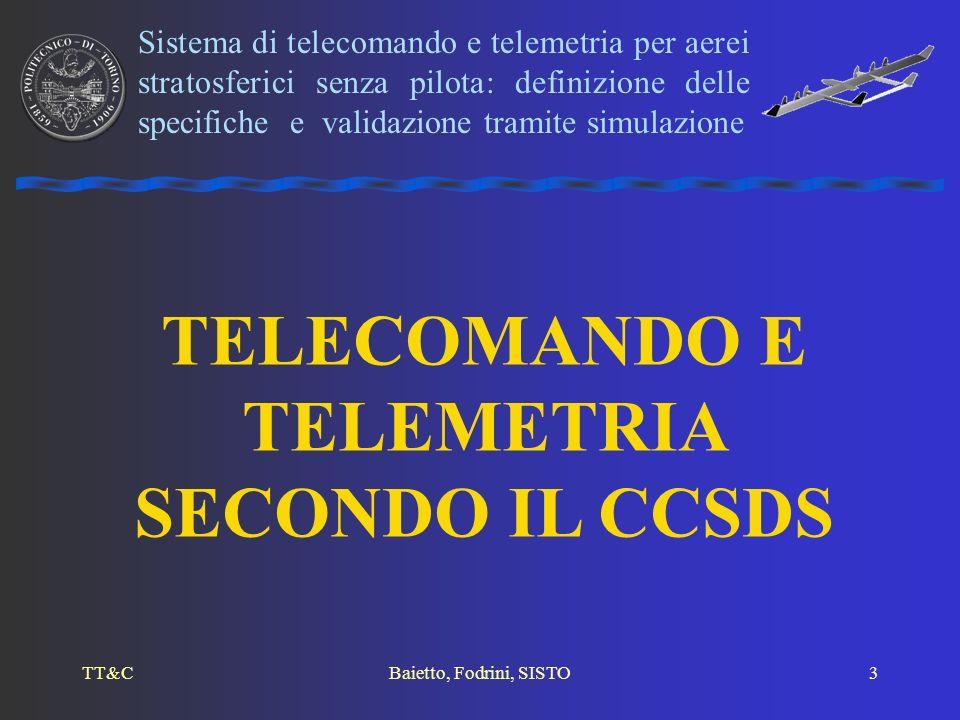 TELECOMANDO E TELEMETRIA SECONDO IL CCSDS