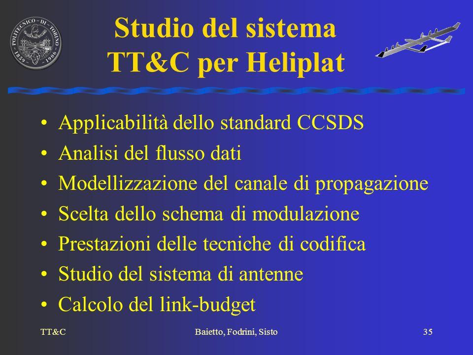 Studio del sistema TT&C per Heliplat