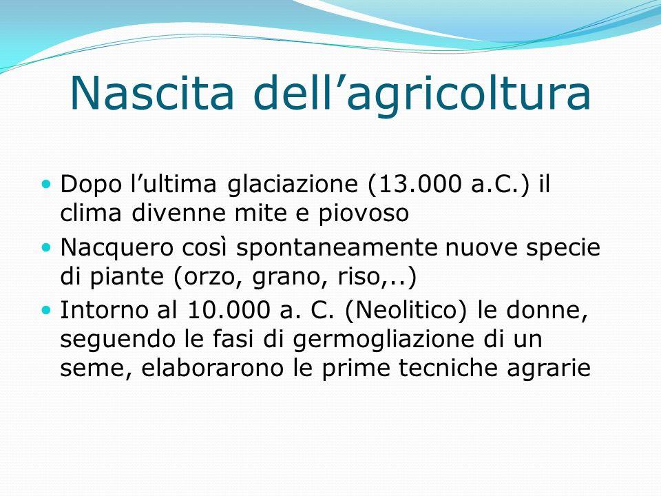 Nascita dell'agricoltura