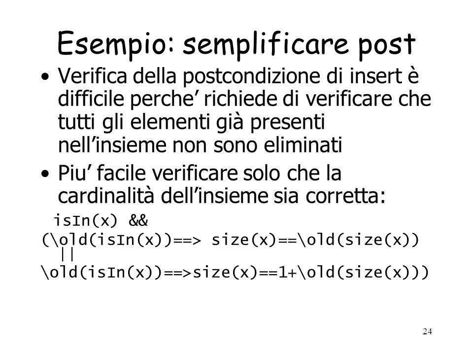Esempio: semplificare post