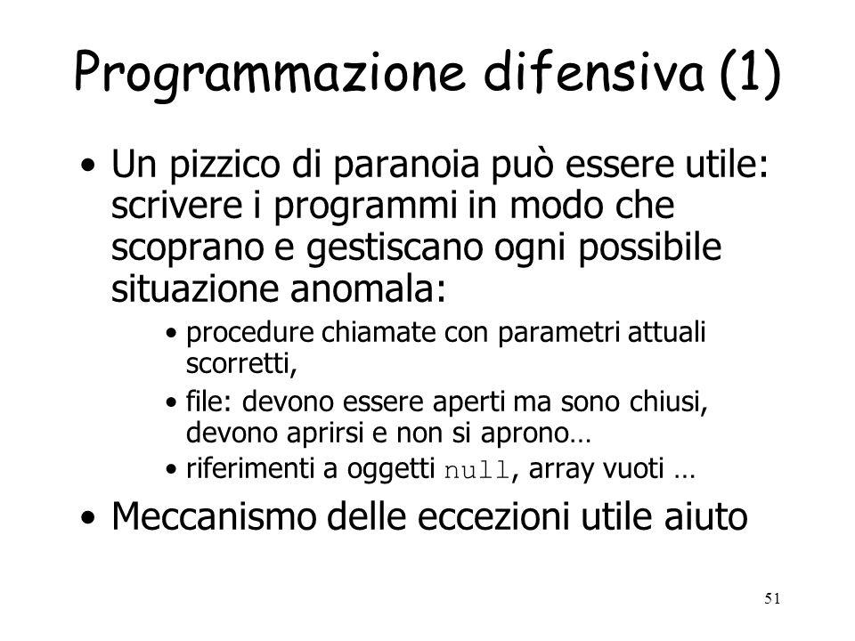 Programmazione difensiva (1)