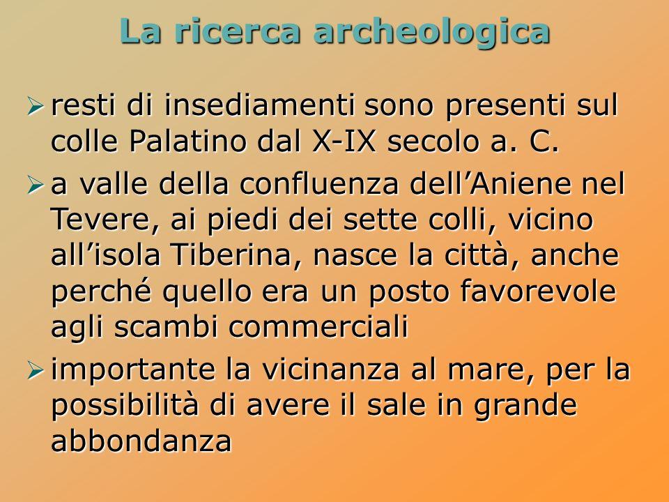 La ricerca archeologica