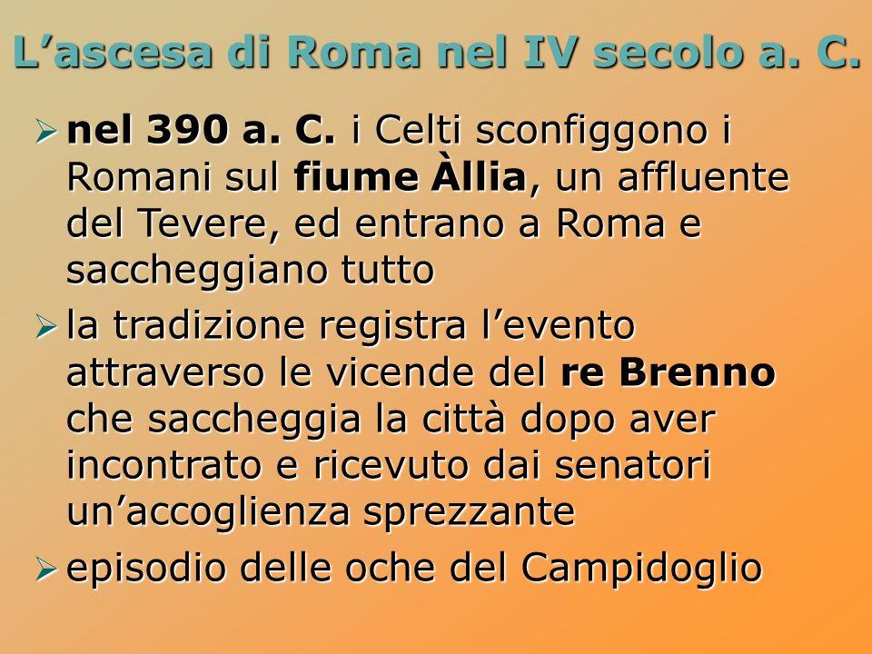 L'ascesa di Roma nel IV secolo a. C.
