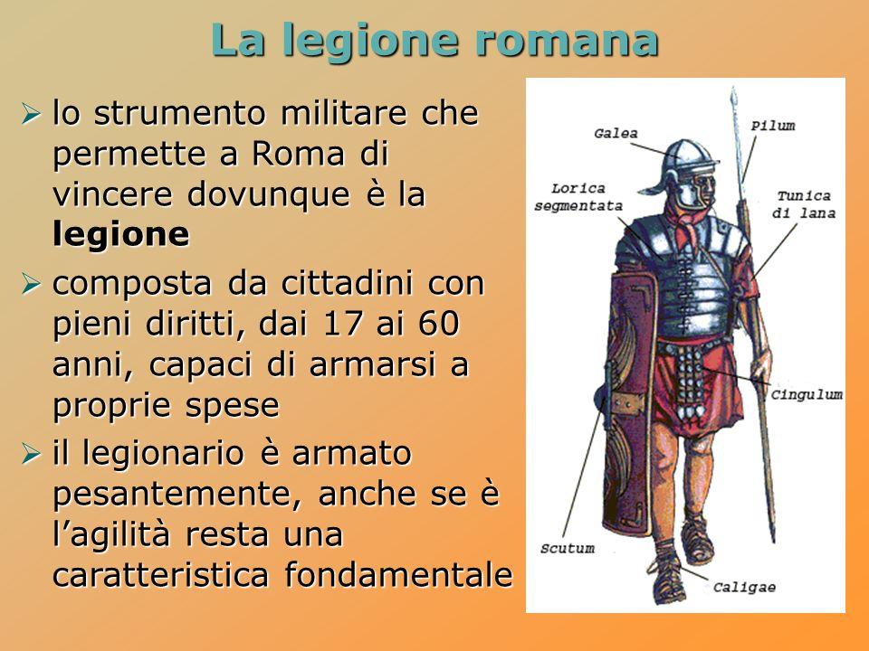 La legione romana lo strumento militare che permette a Roma di vincere dovunque è la legione.