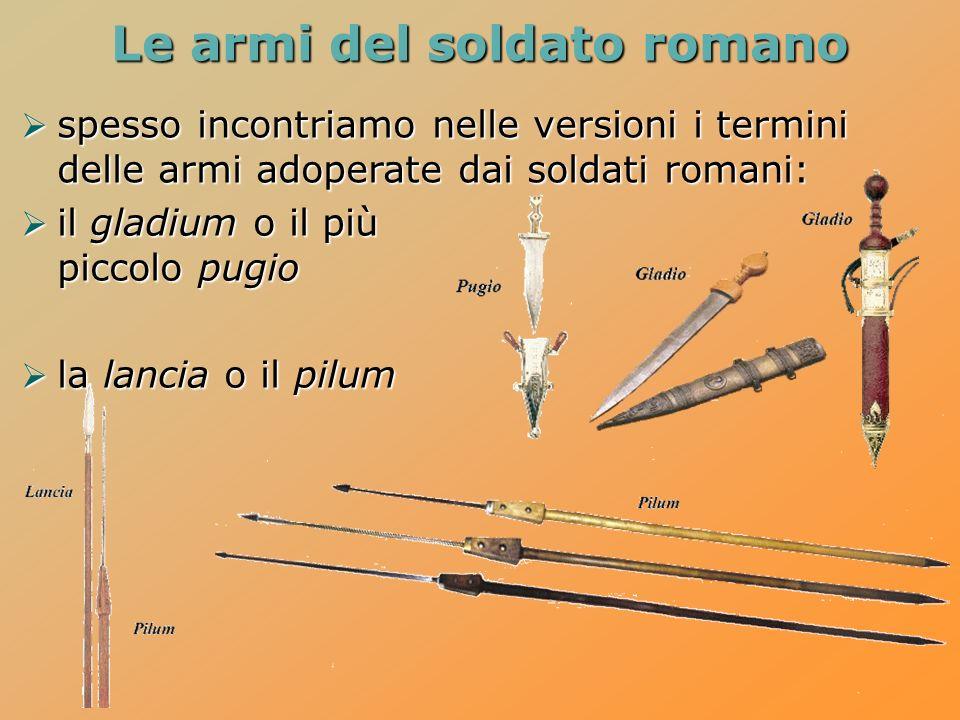 Le armi del soldato romano