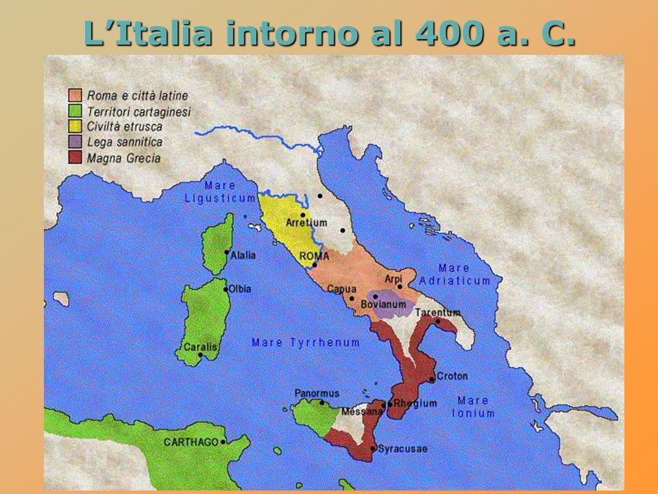 L'Italia intorno al 400 a. C.