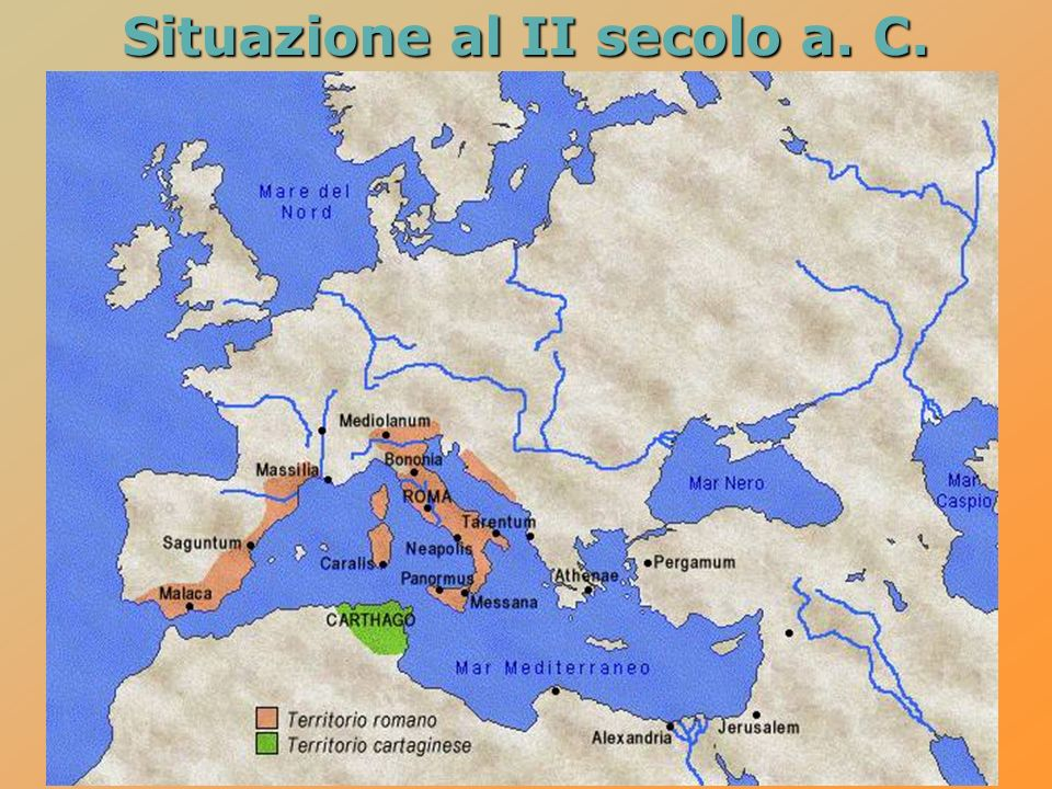 Situazione al II secolo a. C.