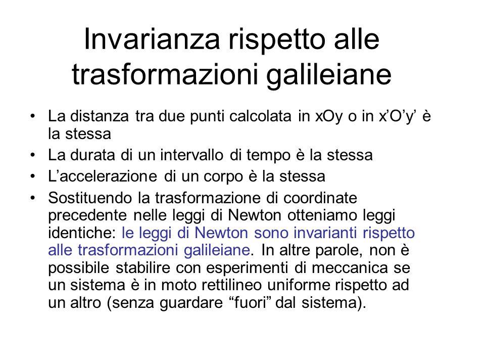 Invarianza rispetto alle trasformazioni galileiane