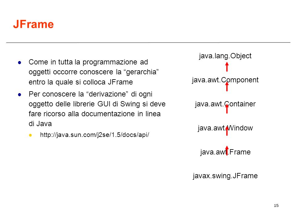 JFrame java.lang.Object