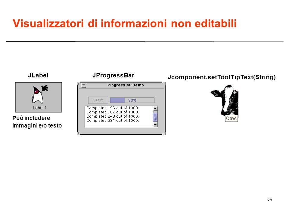 Visualizzatori di informazioni non editabili
