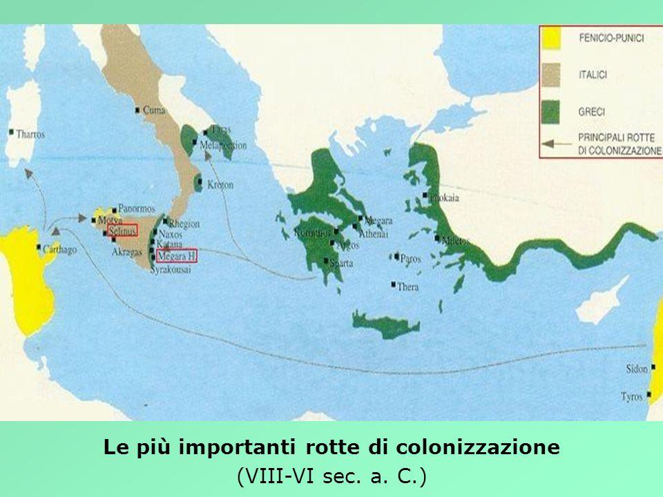 Le più importanti rotte di colonizzazione