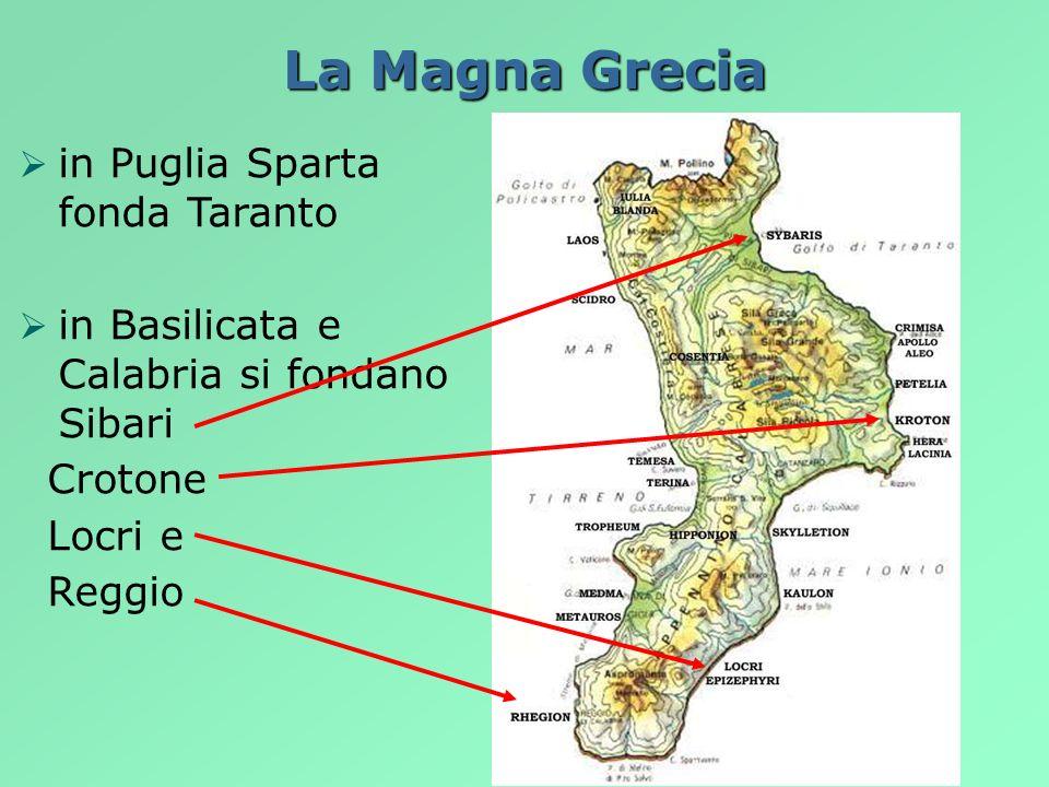 La Magna Grecia in Puglia Sparta fonda Taranto