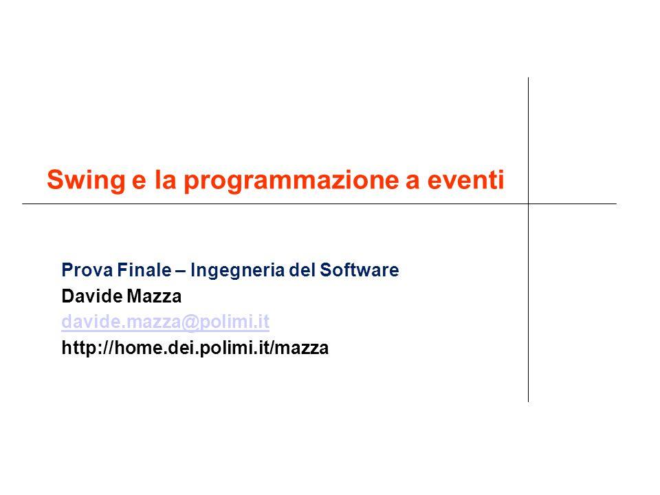 Swing e la programmazione a eventi