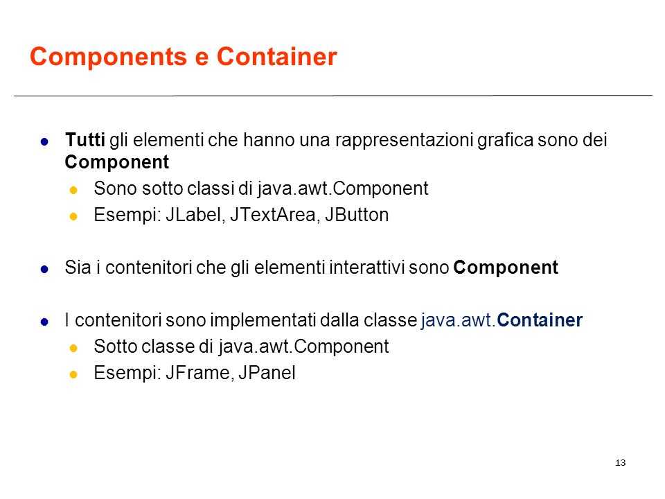 Components e Container