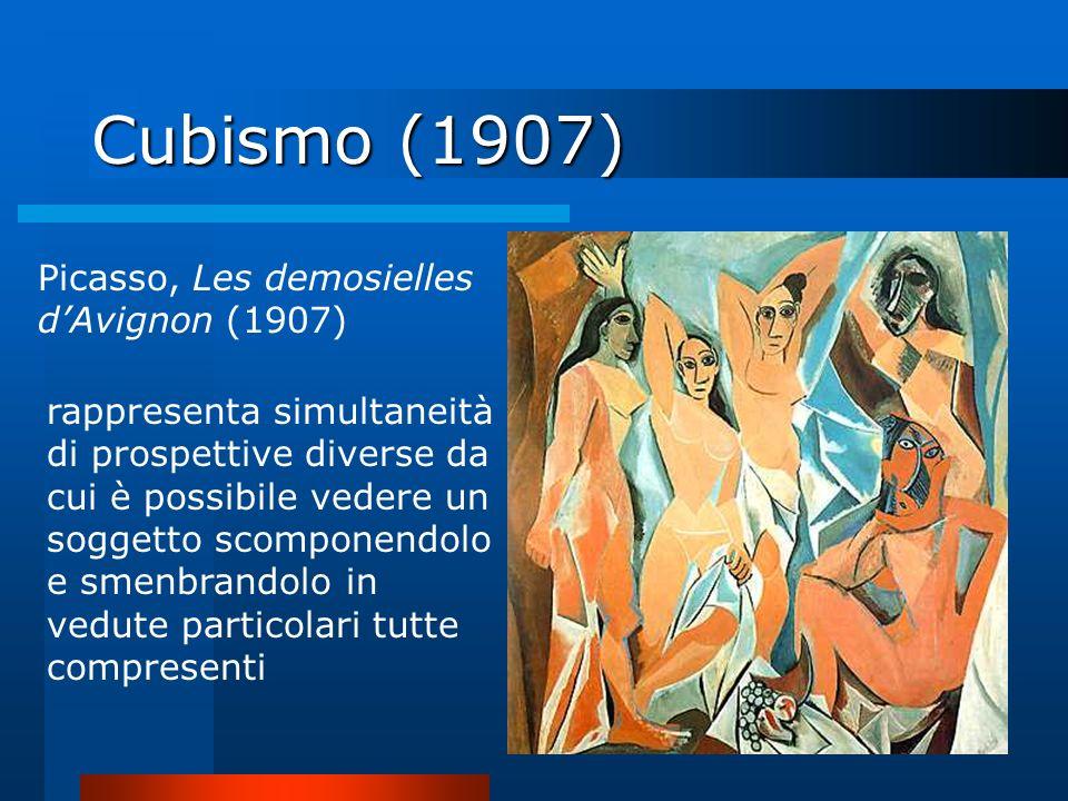 Cubismo (1907) Picasso, Les demosielles d'Avignon (1907)