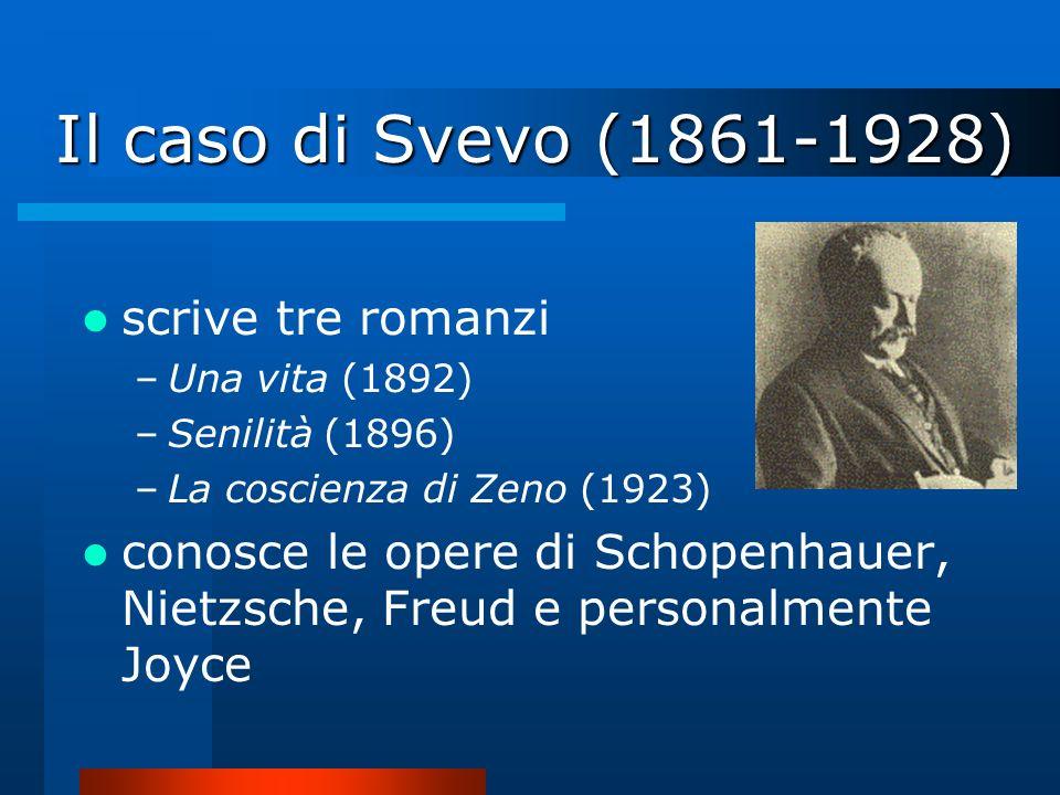 Il caso di Svevo (1861-1928) scrive tre romanzi
