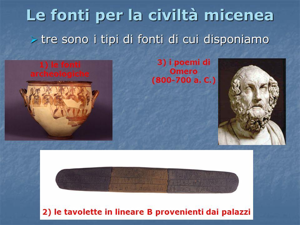 Le fonti per la civiltà micenea