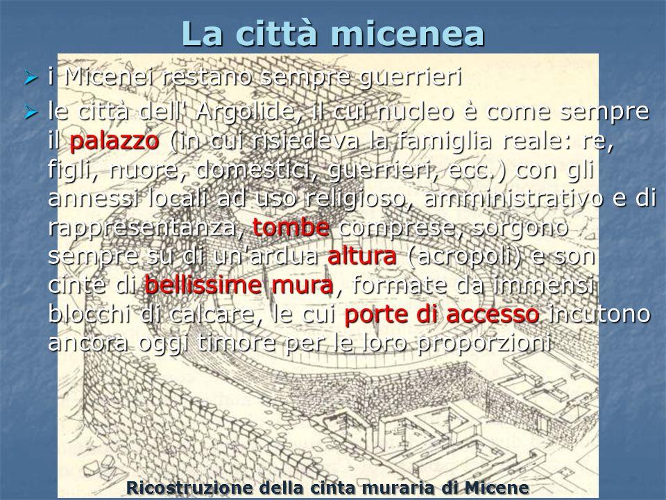 Ricostruzione della cinta muraria di Micene