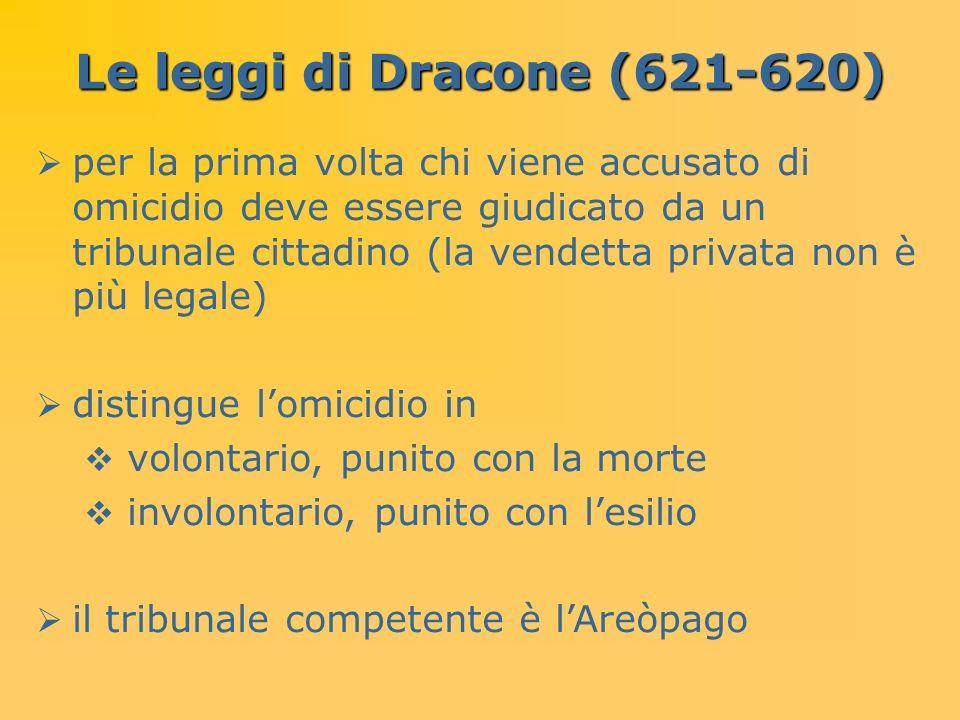Le leggi di Dracone (621-620)