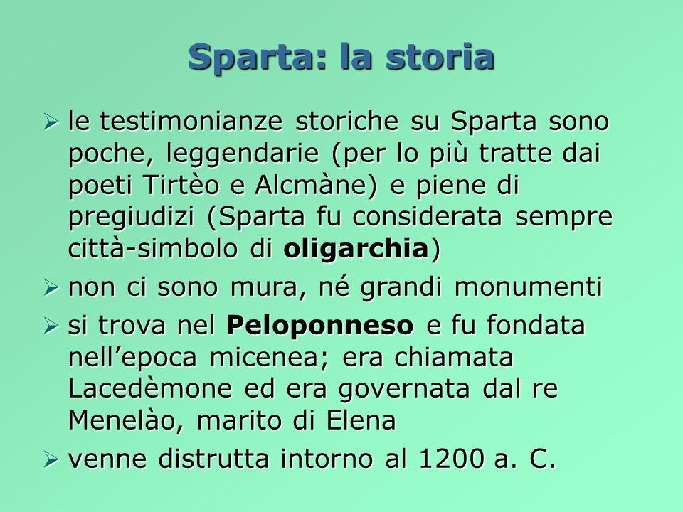 Sparta: la storia