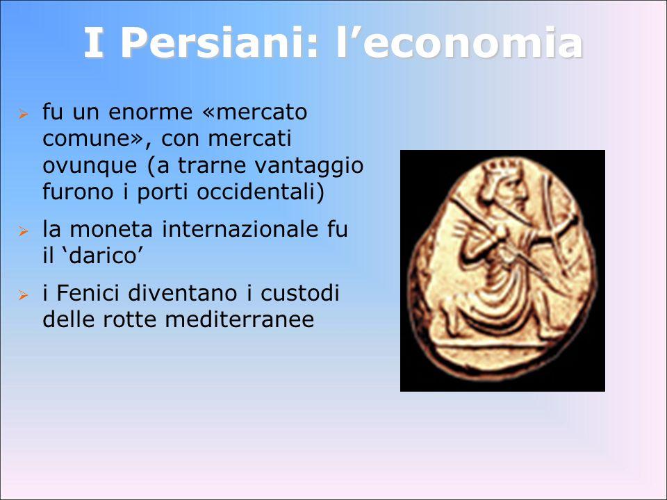 I Persiani: l'economia