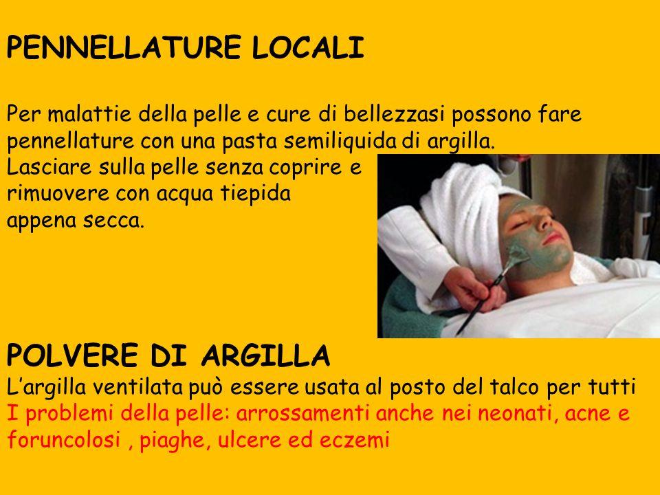 PENNELLATURE LOCALI POLVERE DI ARGILLA ..