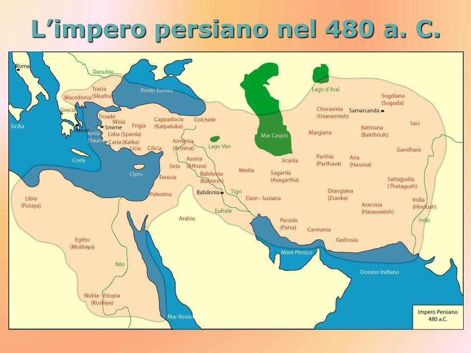L'impero persiano nel 480 a. C.