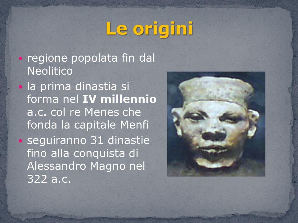 Le origini regione popolata fin dal Neolitico