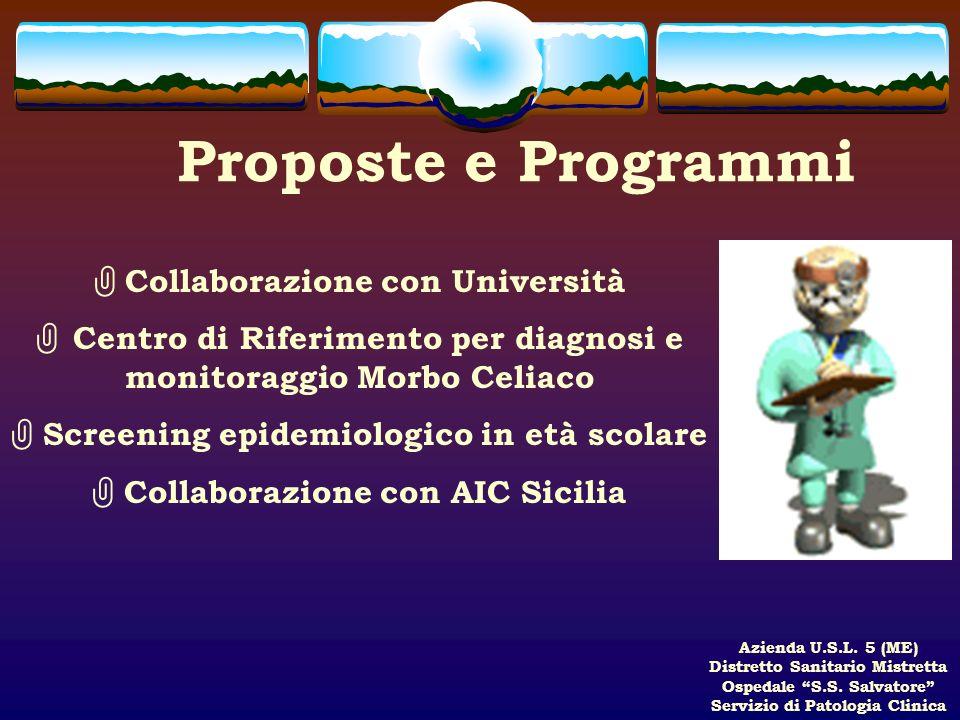 Proposte e Programmi Collaborazione con Università