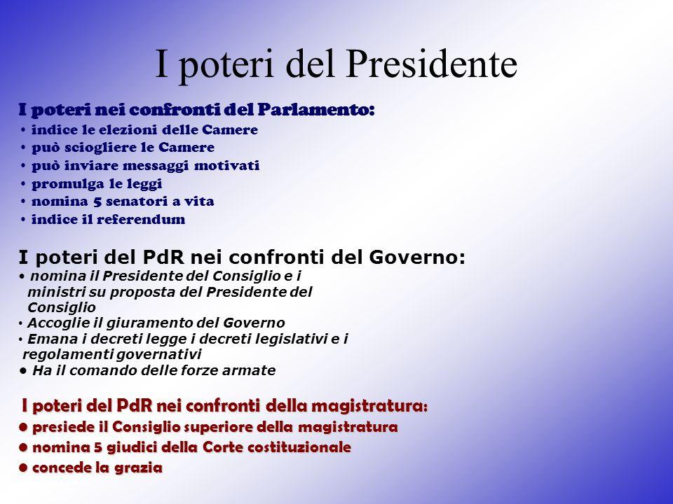 I poteri del Presidente