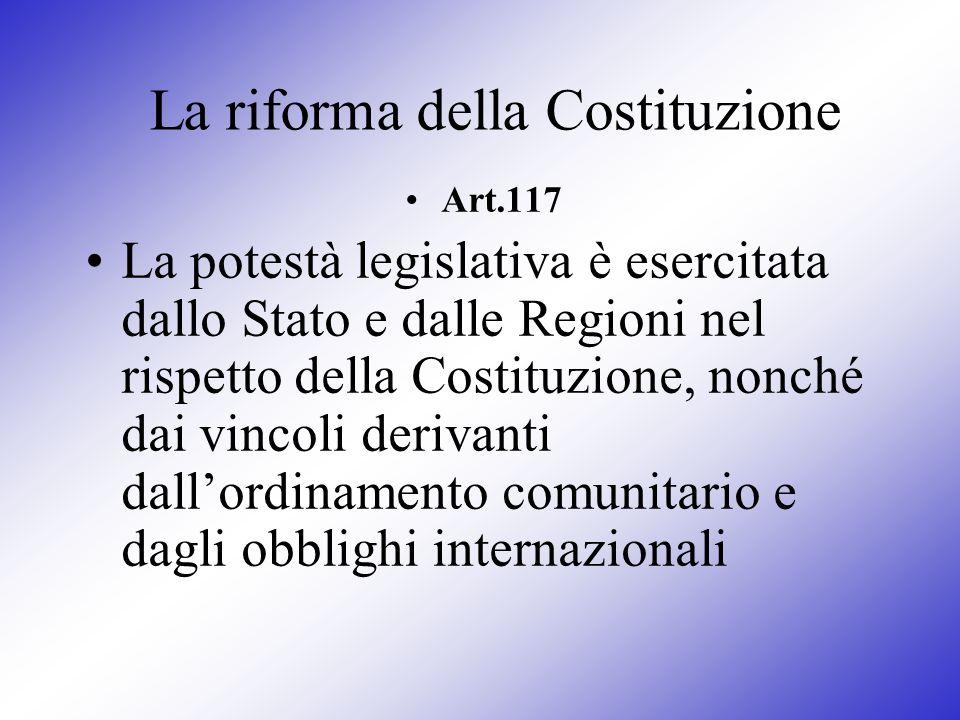 La riforma della Costituzione
