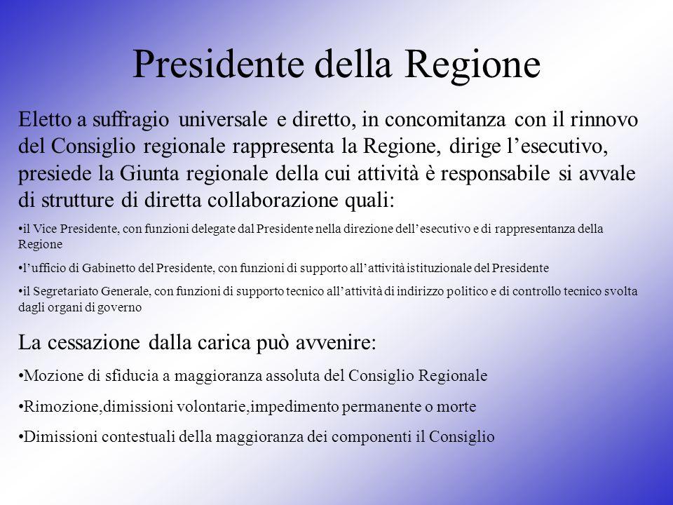 Presidente della Regione