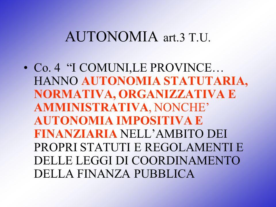 AUTONOMIA art.3 T.U.