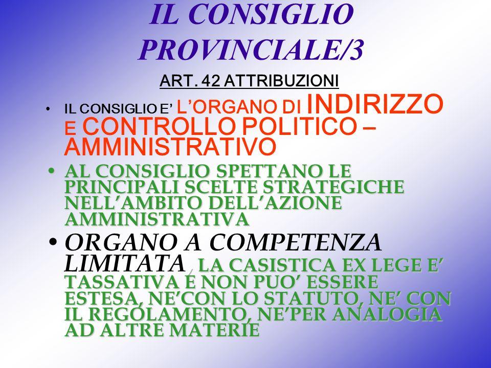IL CONSIGLIO PROVINCIALE/3