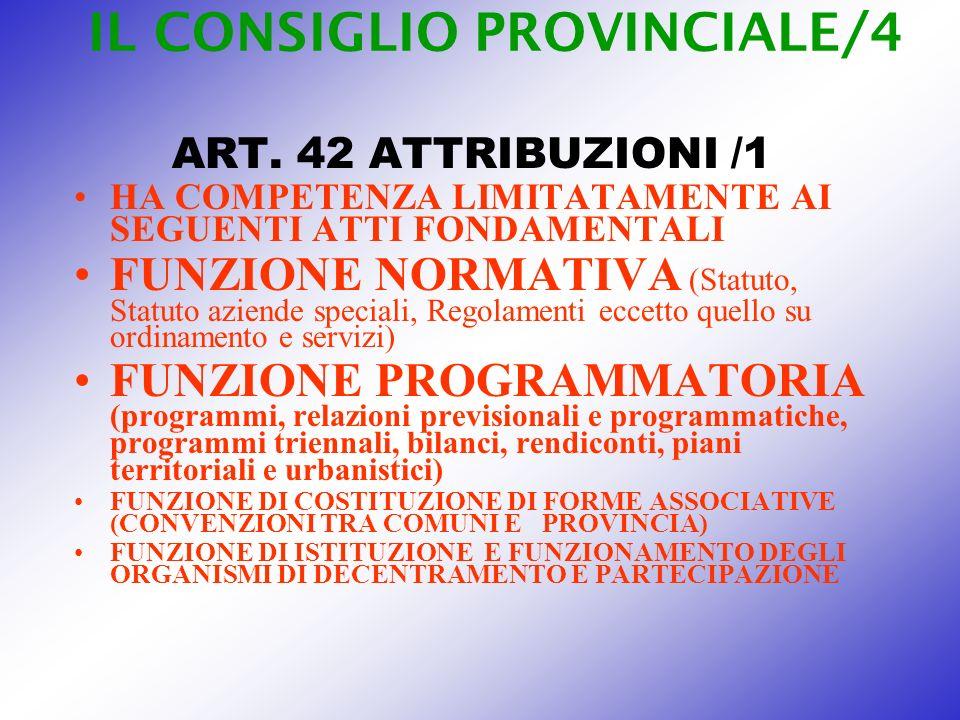 IL CONSIGLIO PROVINCIALE/4