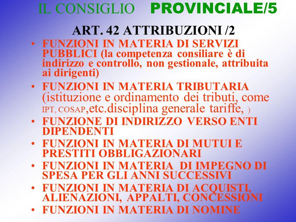 IL CONSIGLIO PROVINCIALE/5