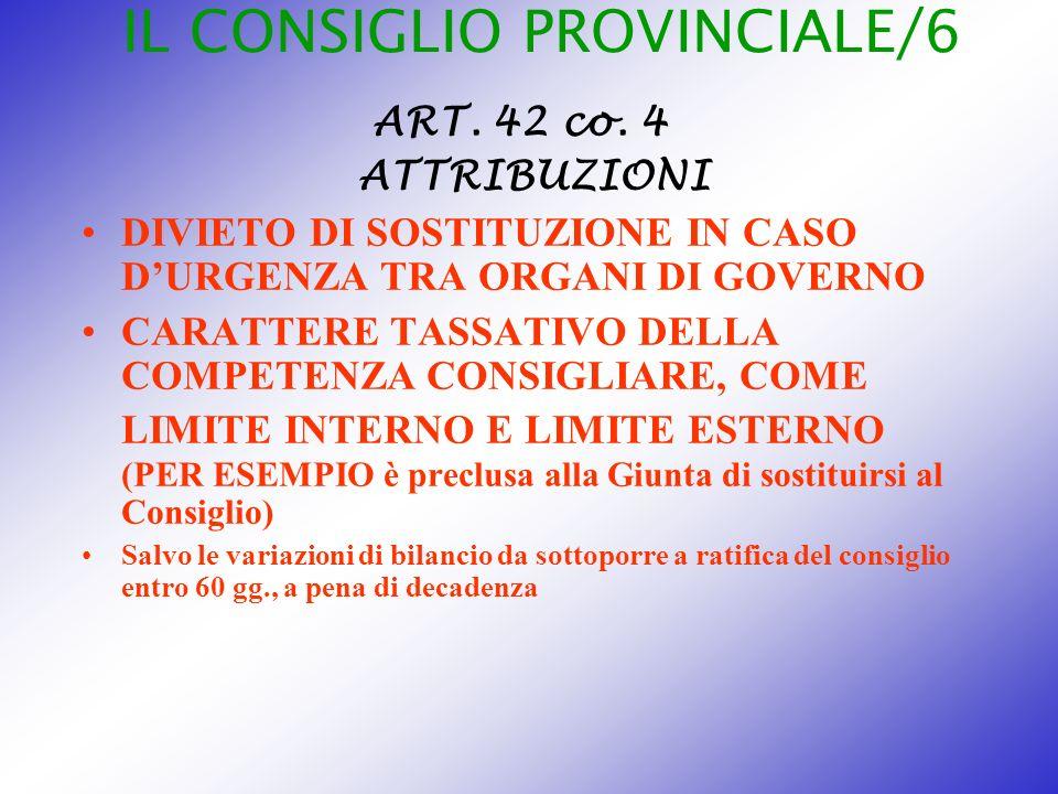 IL CONSIGLIO PROVINCIALE/6