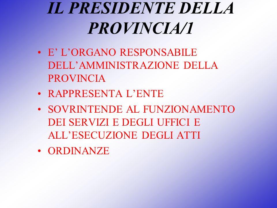 IL PRESIDENTE DELLA PROVINCIA/1