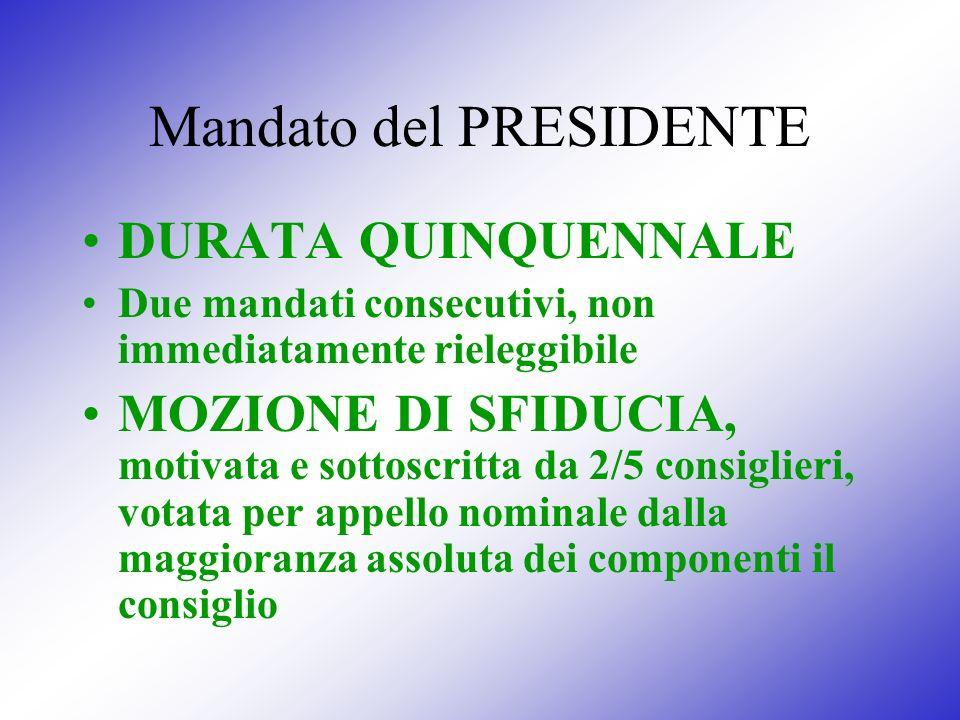 Mandato del PRESIDENTE