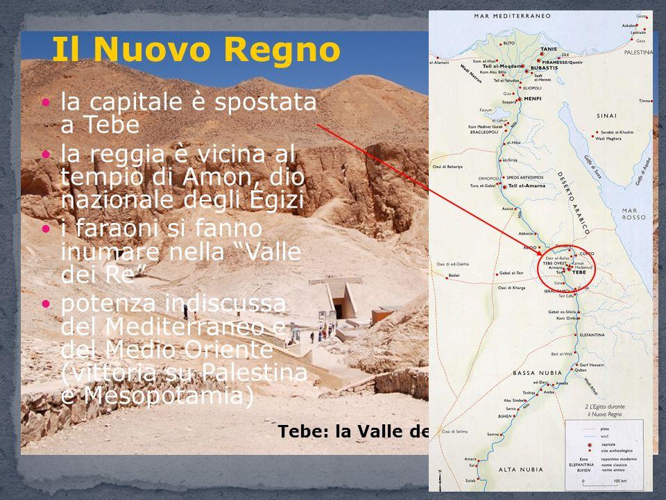 Il Nuovo Regno la capitale è spostata a Tebe